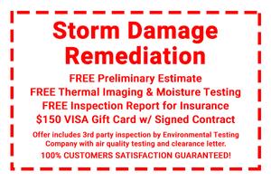 Storm Damage Remediation Coupon