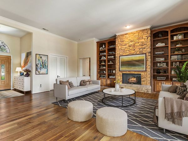 Image of gorgeous upscale living room staged to sell