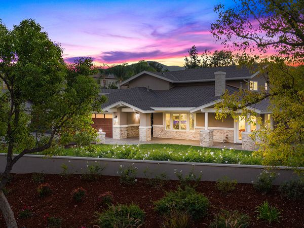image of California backyard at sunset