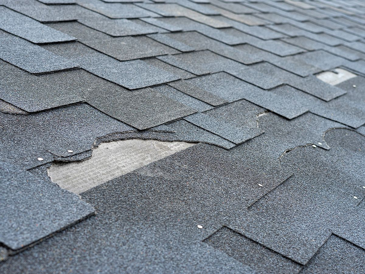 Damaged shingles create places for water to leak in!