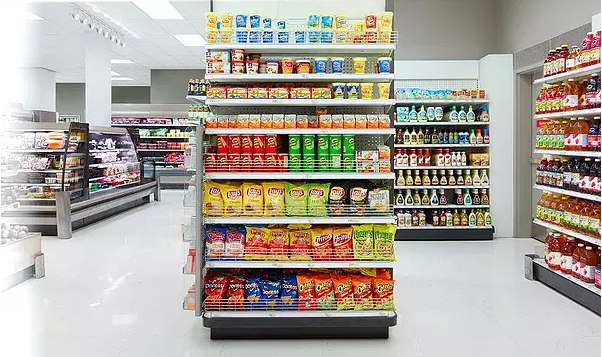 End cap of a grocery store