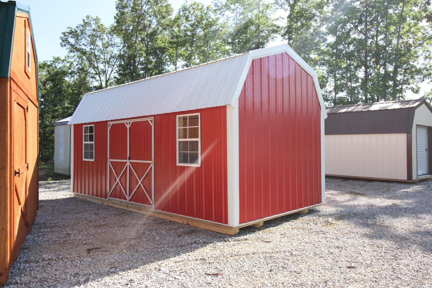 Metal Side Lofted Barn (3-Tier Shelving)