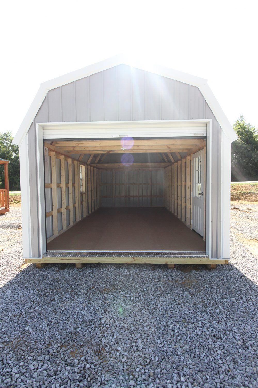 Metal Lofted Garage