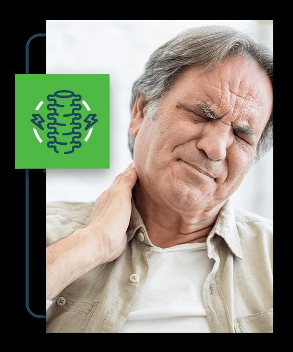 Patient neck pain