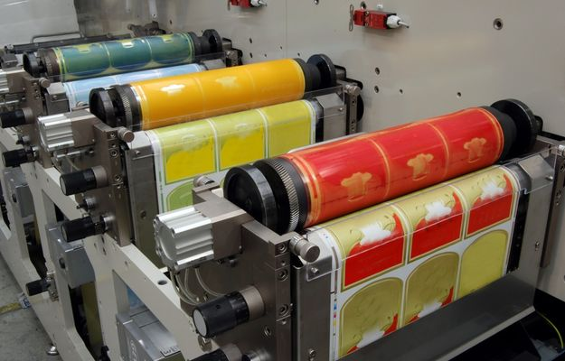 Image of label printing at Blair Labeling.