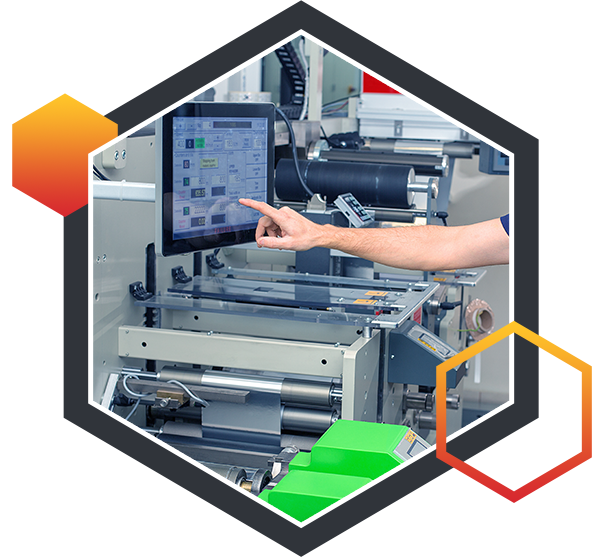 Image of the label printing and manufacturing process at Blair Labeling Inc.