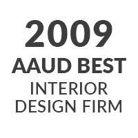 2009 AAUD BEST INTERIOR DESIGN FIRM
