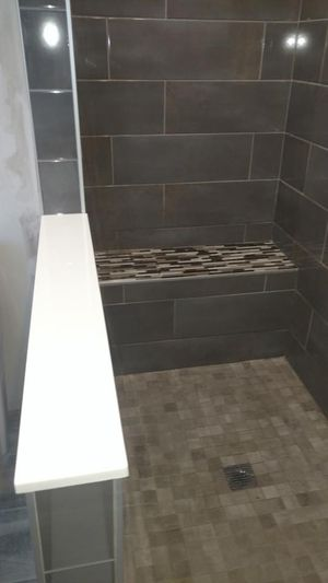 Interior of remodeled shower from Remodeling FX
