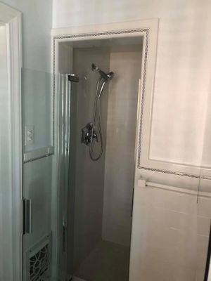 Image of closed off shower remodeled from Remodeling FX