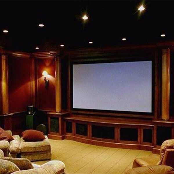 Image of complete theater room remodeling
