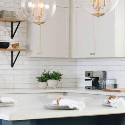 Image of bright remodeled kitchen area