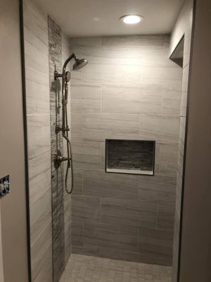 A look inside the remodeled shower from Remodeling FX