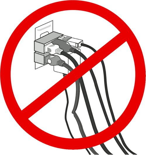no daisy chaining plugs