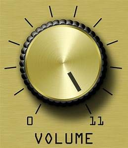 volume knob at 11
