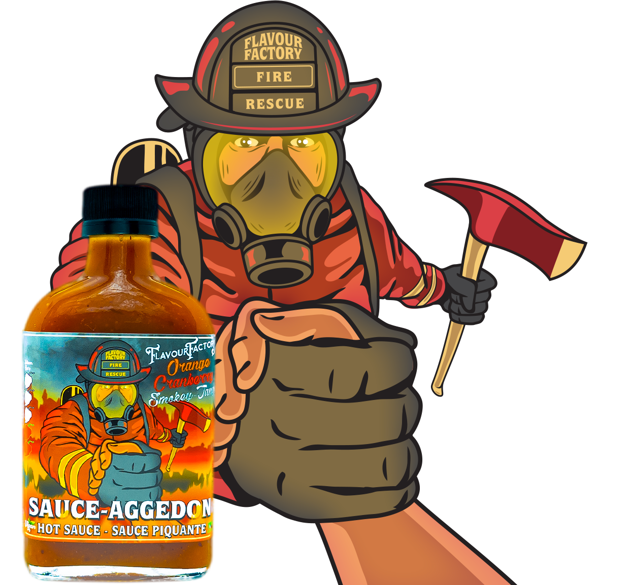 Sauce Aggedon Hot Sauce From Flavour Factory