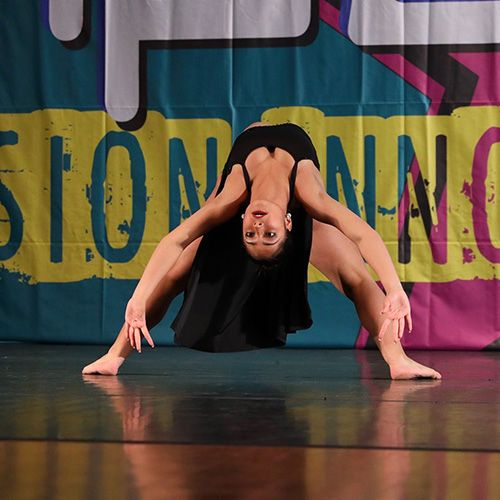 A contemporary dancer from Dance Empire of Miami competing in a dance competition