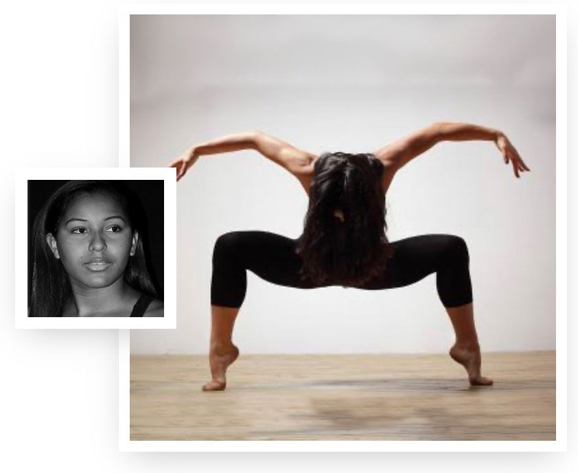 A modern dance student practices at Dance Empire of Miami