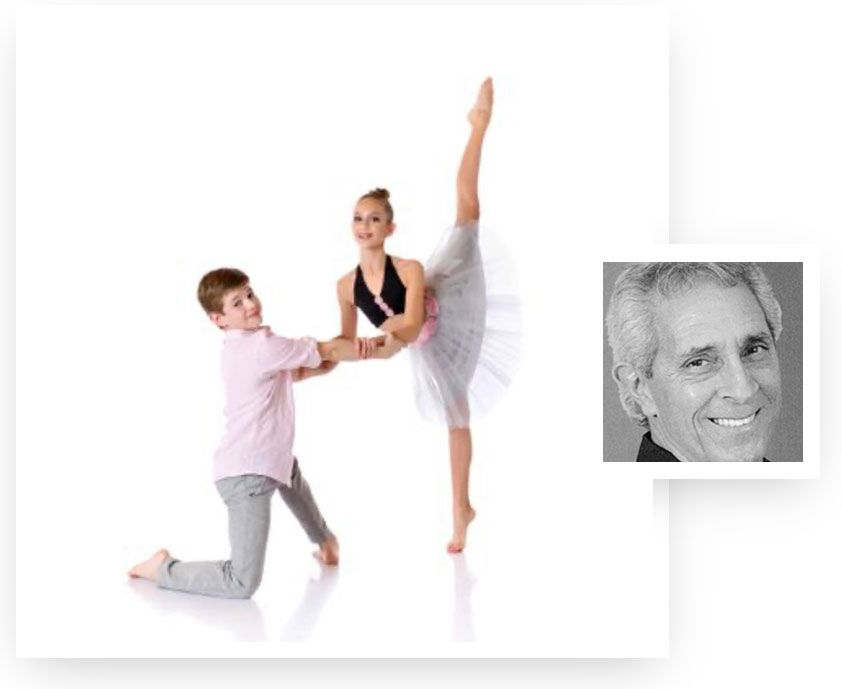A pair of young ballet students at Miami dance school Dance Empire of Miami