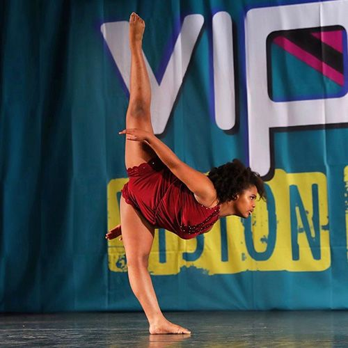A student dancer from Dance Empire of Miami competes in a national competition