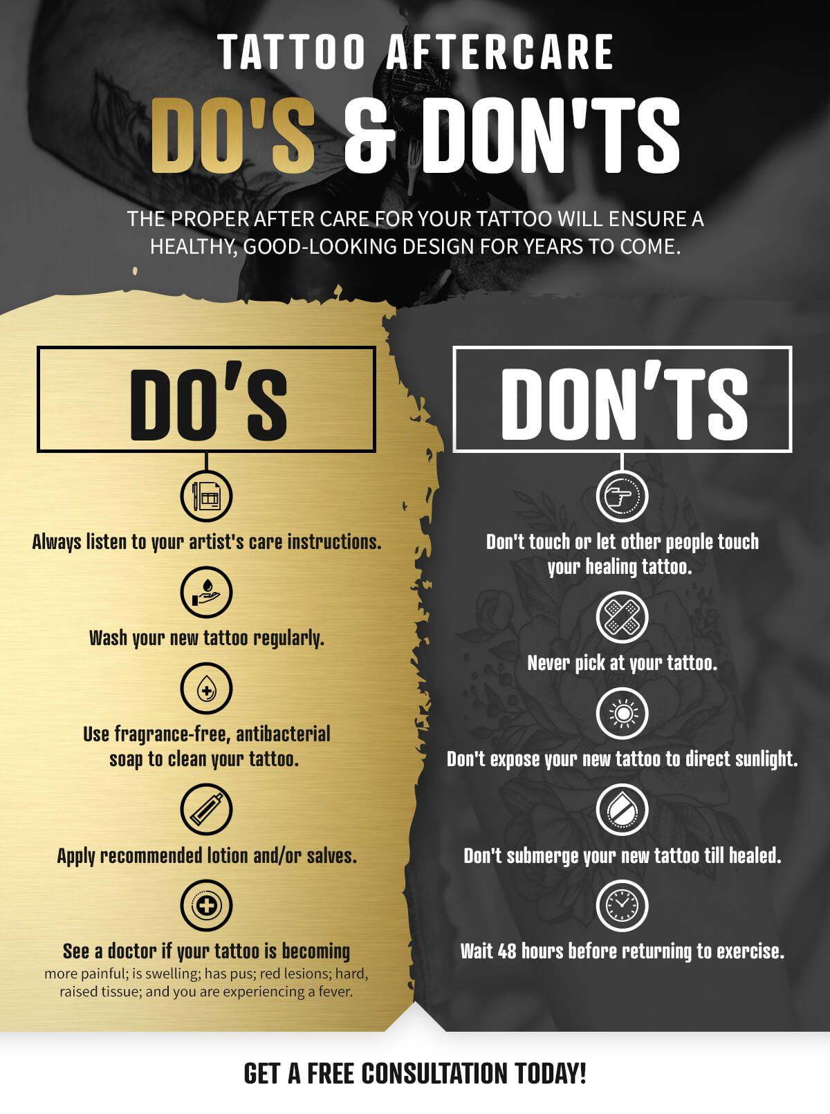 Tattoo Aftercare Do's & Don'tsTattoo Aftercare Do's & Don'ts