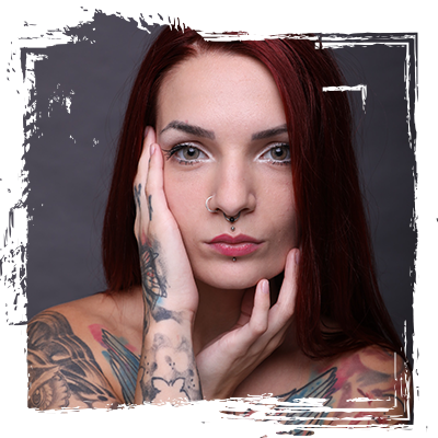Photo of a woman with piercings