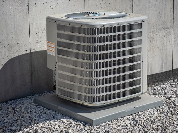 An outdoor air conditioning unit.