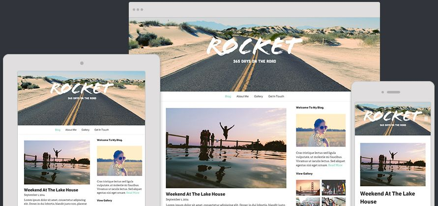 Website Template Rocket Expanded