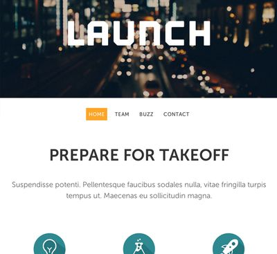 Website Template Launch