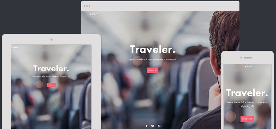 Website Template Ascent
