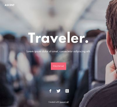 Website Template Ascent