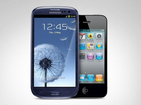 Samsung Galaxy SIII vs iPhone 4s