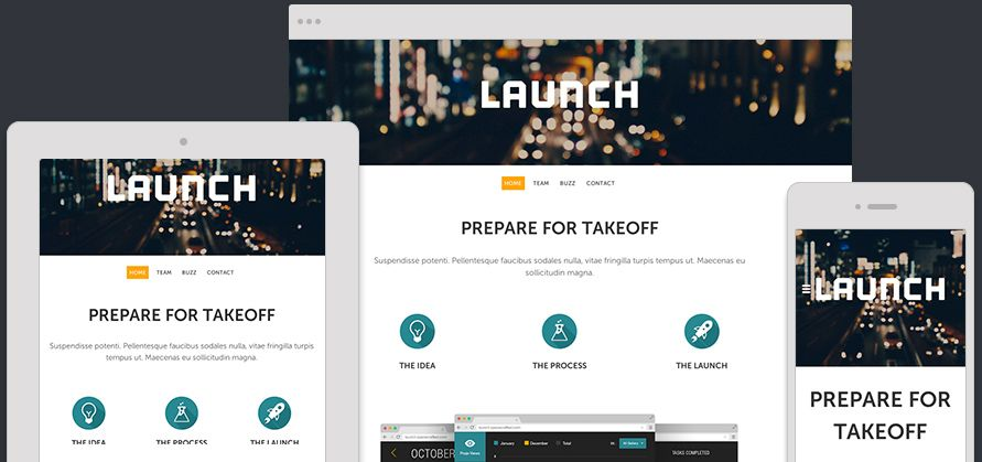 Website Template Launch Expanded