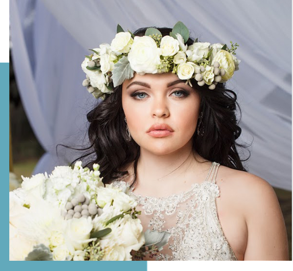 Make a statement with a lush flower crown