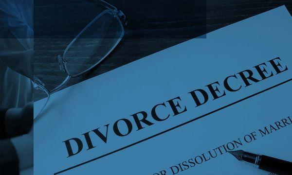 Divorce documents.