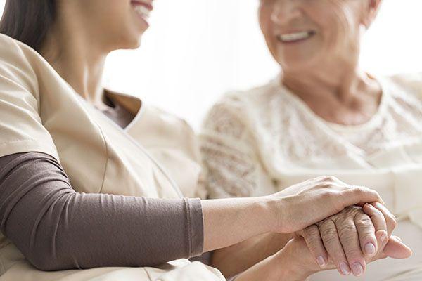 nurse and elderly lady