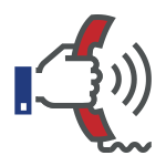 hand and phone icon