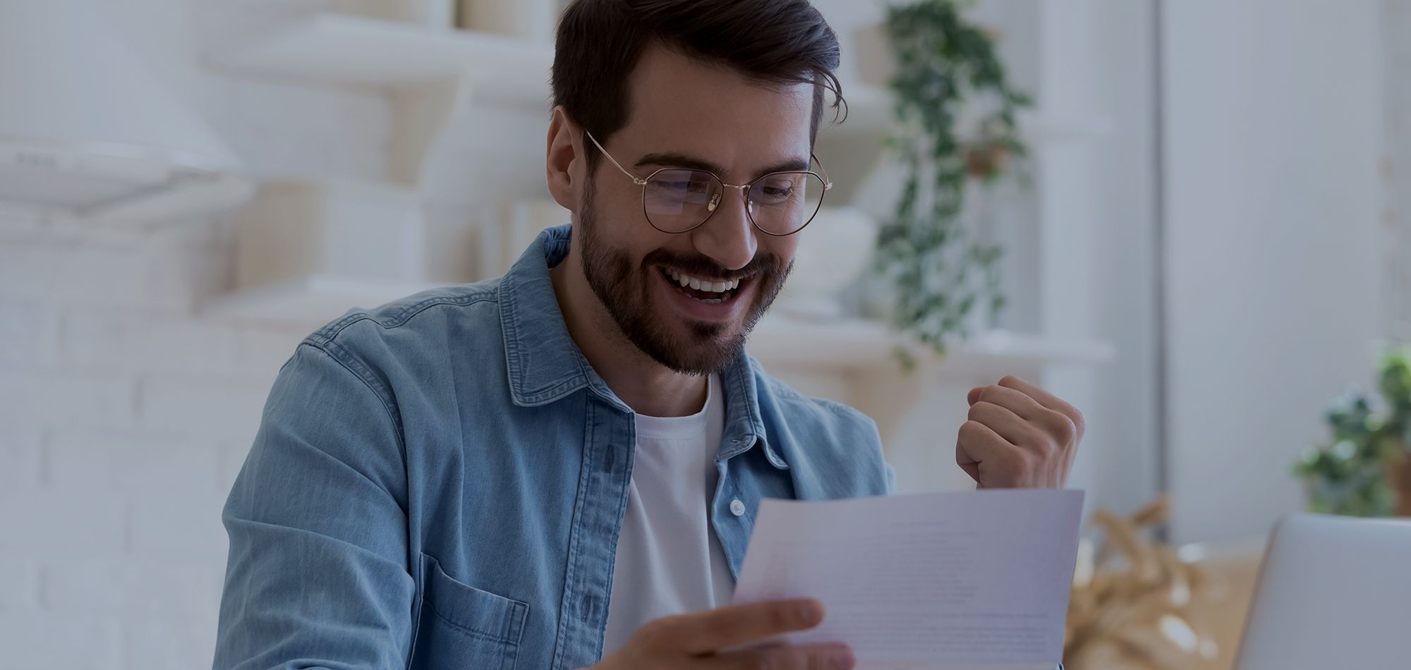man looking at documents