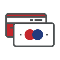blue and red  credit card icon