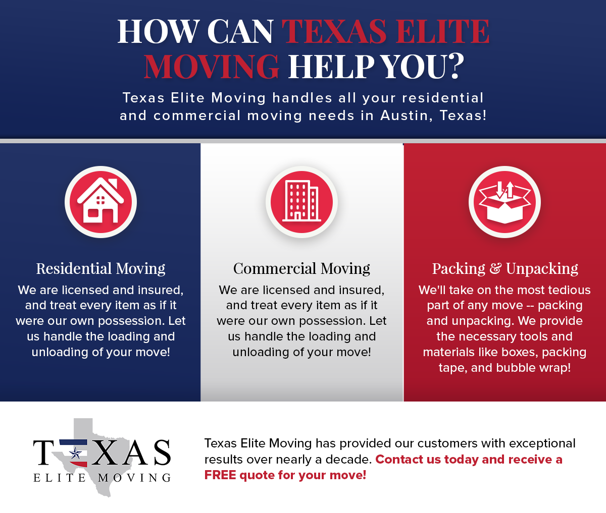 How Can Texas Elite Moving Help You Infographic