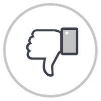 Icon of a thumb pointing down