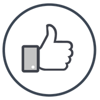 Icon of a thumb pointing up
