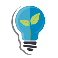 lightbulb with sprout icon
