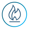 Graphic of flame