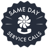 Same Day Service Calls Badge