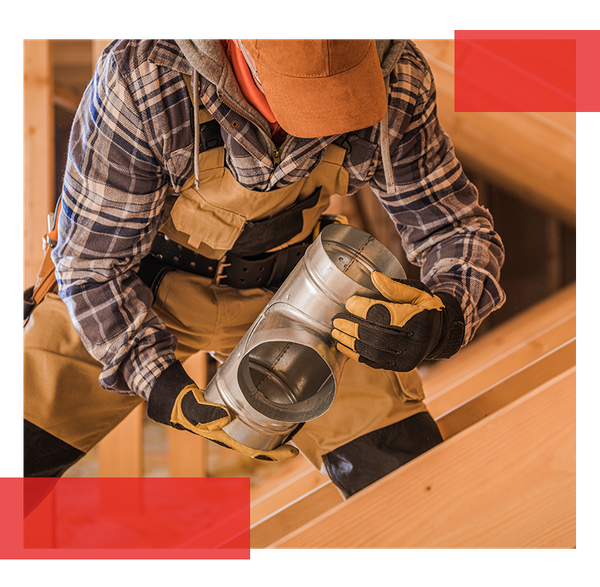 Image of an HVAC contractor performing residential repairs.