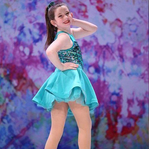 Dancing girl in blue