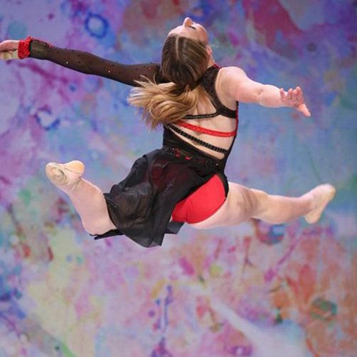 Leaping Dancer at a competition