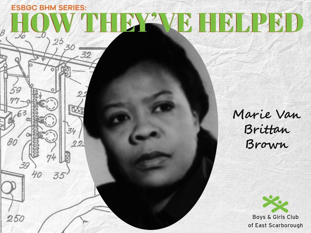 Meet Marie Van Brittan Brown