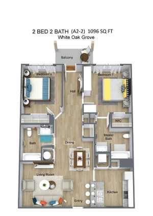 2 BED 2 BATH  (A2-2)  1096 SQ FT - White Oak Grove - 3D Floor Plan (1).jpg