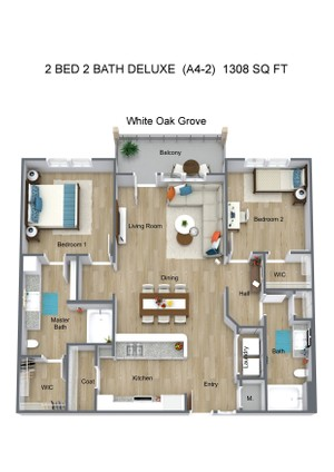 2 BED 2 BATH DELUXE  (A4-2)  1308 SQ FT - White Oak Grove - 3D Floor Plan (1).jpg